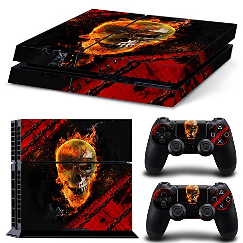ZoomHit Ps4 Playstation 4 Console Skin Decal Sticker Skull + 2 Controller Skins Set (Video Game Harley Davidson)