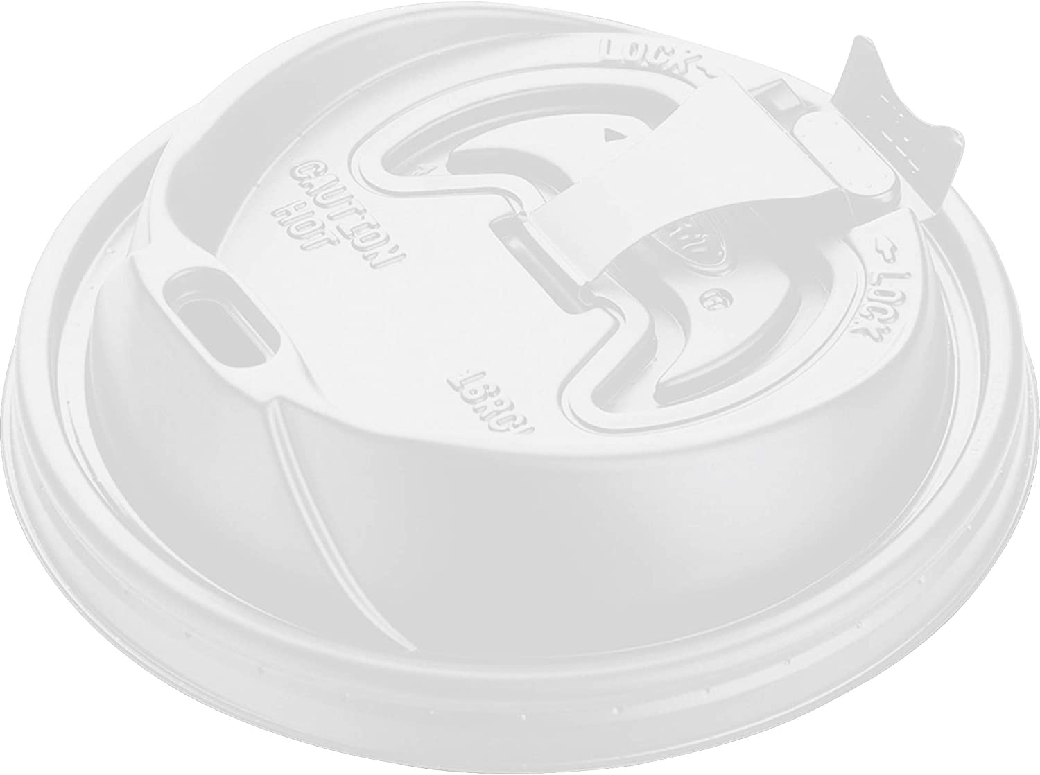 DART Reclosable Hot Beverage Cup Lid, White, 16 oz.