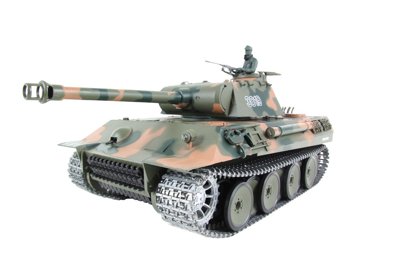 XciteRC 35509000  RC Panzer Modellpanzer Panther, RTR Professional 1:16 1:16 1:16 mit Fernsteuerung, camouflage grün 879471