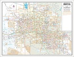 Metropolitan Phoenix Zip Code Arterial And Collector Streets Desk