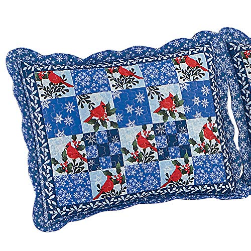 Collections Etc Winter Cardinals & Snowflakes Christmas