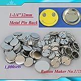 "1,000sets 1-1/4""32mm Metal Pin for Button Machine Badge Button Parts BIG SALE!!!(item#015501*10)"