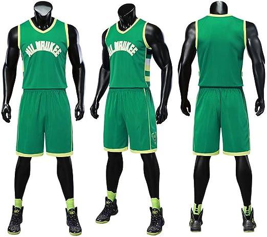 AIALTS NBA Bucks Baloncesto del Muchacho del Conjunto Jersey ...