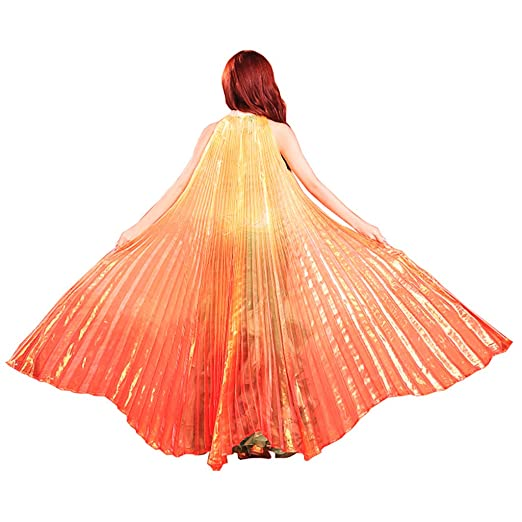 Pilot-Trade Women's Egyptian Egypt New Belly Dance Costume Colorful Isis  Wings