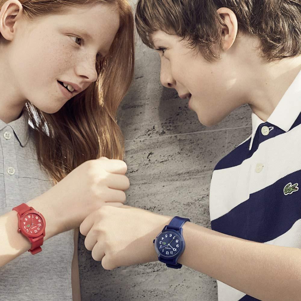 Lacoste Kids Lacoste.12.12 Kids Quartz TR-90 and Rubber Strap Casual Watch, Color: Green (Model: 2030001)