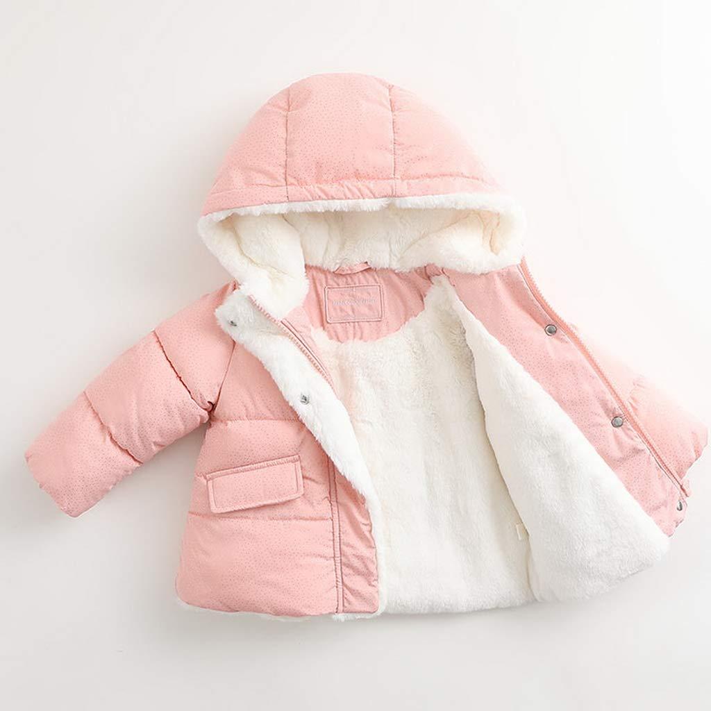 marc janie Little Girls Winter Hooded Jacket Baby Fleece Lined Coat