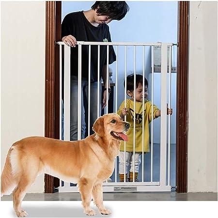 Baby Gate Baby Fence Baranda para escaleras Escalera para Perros Baranda Grande y Mediana para Perros Cerradura Doble sin punzonado Cierre automático (Color: Alto 75CM, Tamaño: 139-146cm): Amazon.es: Hogar