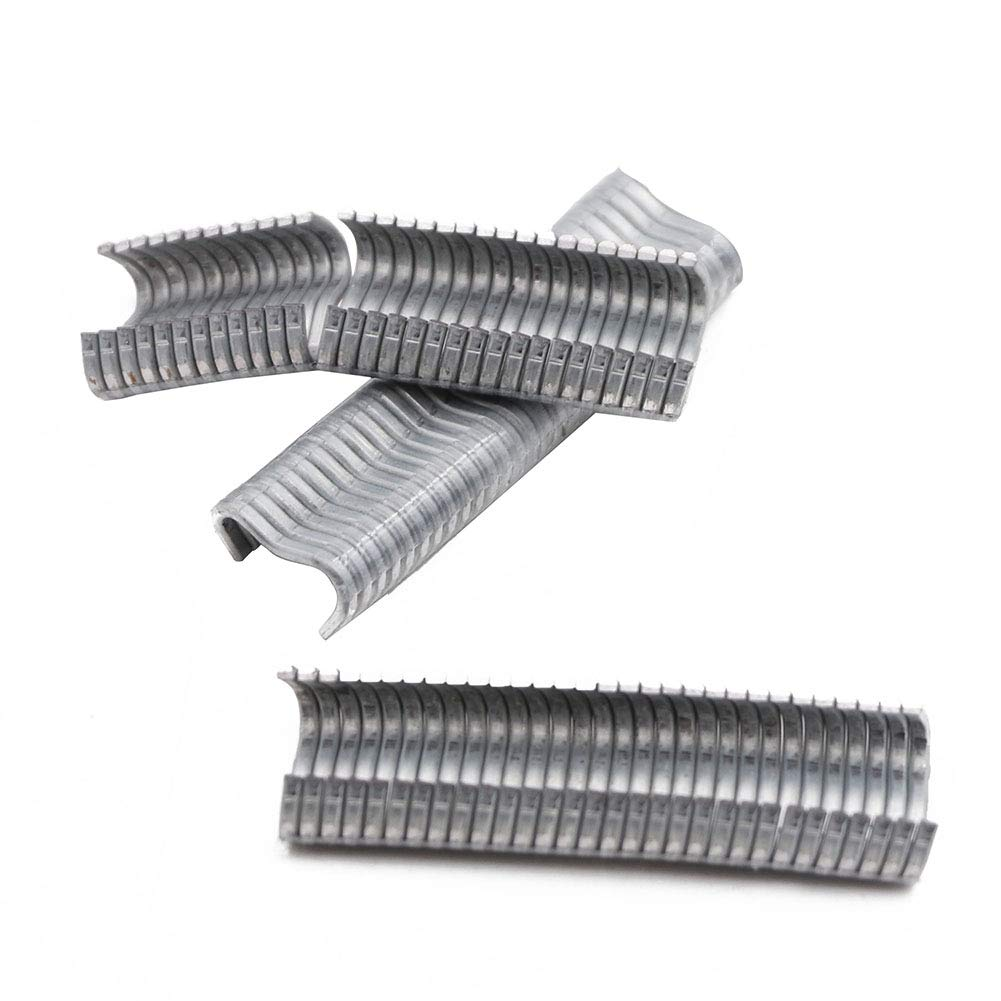 M.Z.A Galvanized Hog Rings 3//4 Heavy Duty Hog Rings Staples for Mesh Traps Cage Fasteners Pack of 600