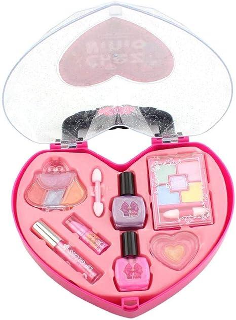 Juguete de maquillaje para niñas de juguete Estuche de cosméticos Juego de imaginación Kit de maquillaje no tóxico seguro Set de regalo para niños: Amazon.es: Bebé