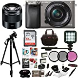 Sony Alpha a6000 Mirrorless Camera w/16-50mm, 50mm Lens, Four 32GB SD Card