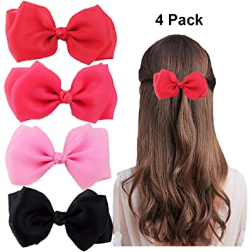 Hot Sale Women/'s Big Bowknot Ribbon Hair Accessory Headband Bow Head Band Clip