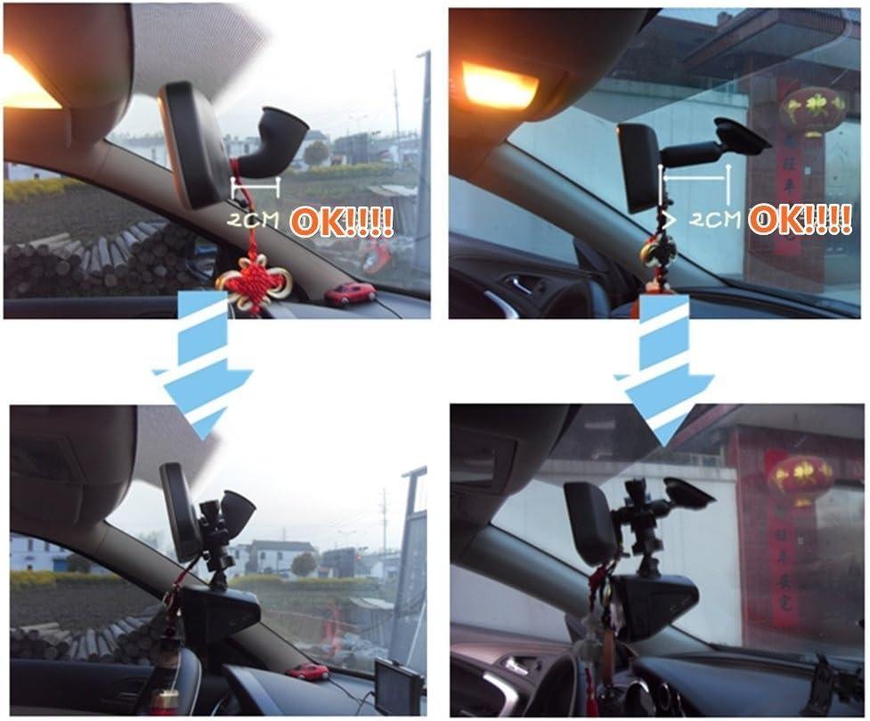 iSaddle CH02D Car Rearview Mirror Camera Mount Holder Bicycle Handlebar Dash Cam Mount Holder for Car DVR Camera GPS