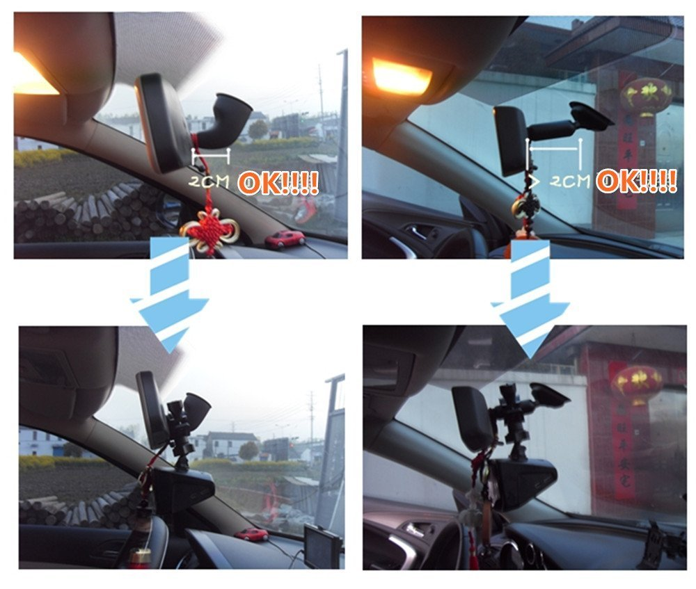 Car rearview mirror mount holder car reviews - Amazon Com Isaddle Ch02d Car Rearview Mirror Camera Mount Holder Bicycle Handlebar Dash Cam Mount Holder For Car Dvr Camera Gps Car Electronics