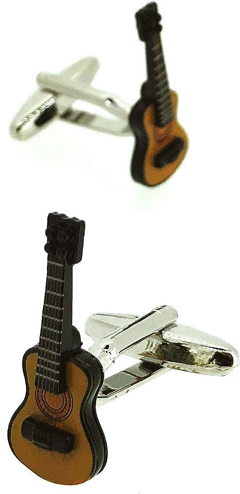 Gemelos para Camisa Guitarra Española 3D: Amazon.es: Ropa y accesorios