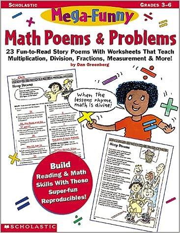 Amazon.com: Mega-Funny Math Poems & Problems (Grades 3-6 ...