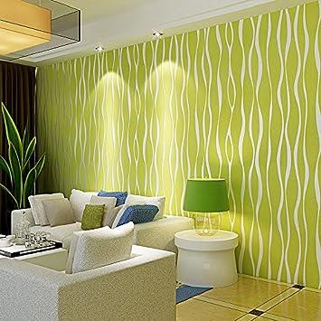 Außergewöhnlich Tapete Fototapete Wallpaper Gestreifte Tapete Warme Wohnzimmer Schlafzimmer  Grün 3D Wand Vlies Tapete , Wallpaper