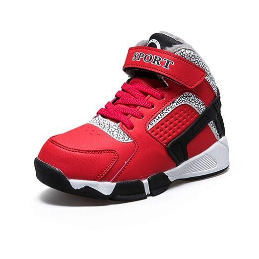 Niños zapatos de baloncesto, zapatos ocasionales de los deportes ...