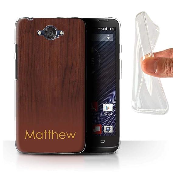 newest b1879 aed1e Amazon.com: Personalized Custom Wood Grain Effect Gel/TPU Case for ...