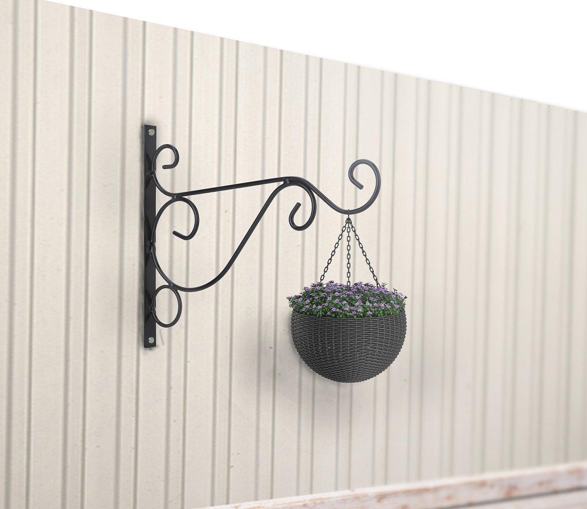 Venfon 3-Pack 10'' Flower Plant Pot Hooks Hangers Outdoor Lawn Iron Bracket For Planter Bird Feeder Lantern Windbell Wind Chimes With Screws (black) by HHXRISE (Image #8)