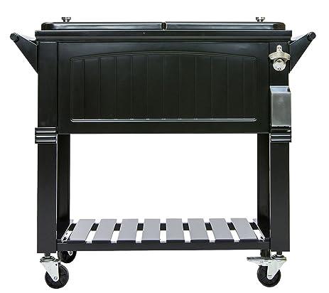 Permasteel Patio Cooler With Antique Finish, 80 Quart