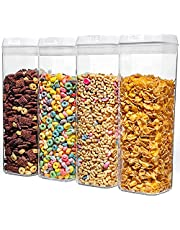 NUMYTON Airtight Food Storage Container with Easy Lock, Air-Tight Dry& Fresh Storage Set