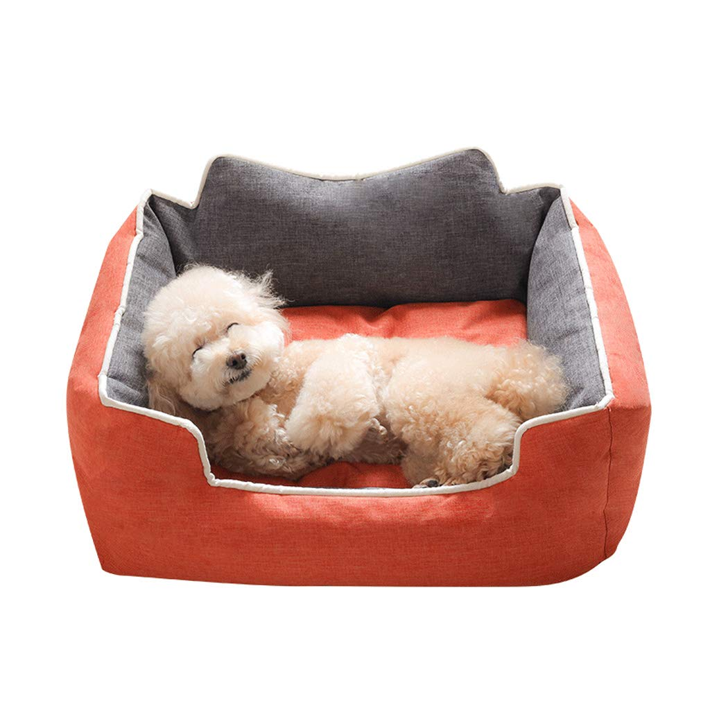 orange 622575cm orange 622575cm C_-1X Kennel, Removable, Pet Bed, Pet Supplies, Warm, Pet Nest, Four Seasons Universal, Cat House, (orange bluee) (color   orange, Size   62  25  75cm)