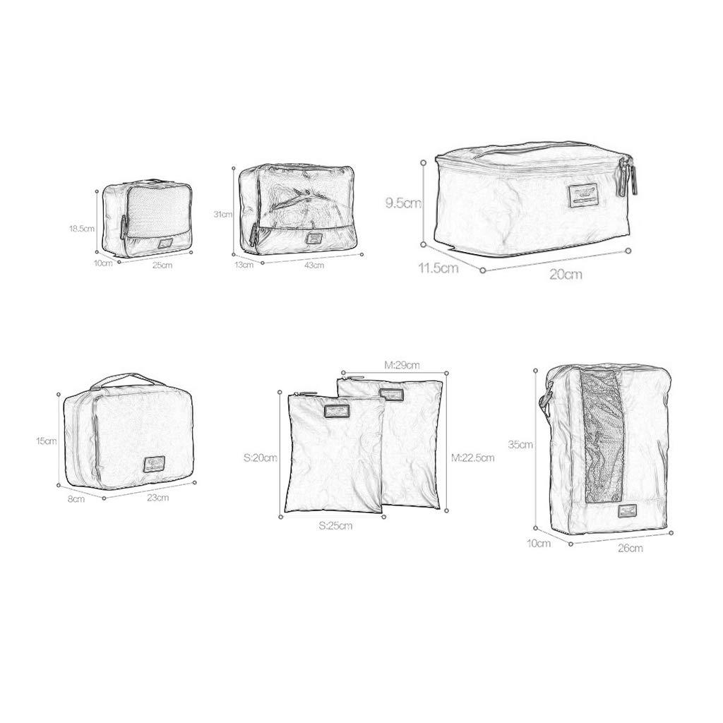 Aufbewahrungstasche Reiseaufbewahrungsbeutel-Kit von 7, 7, 7, Toilettenartikel, Unterwäsche, Schuhe, Digitale, Gepäck-Organisator für 24-28 Zoll-Koffer geeignet (Farbe   SCHWARZ) B07M995SQJ Kleiderscke 53644f