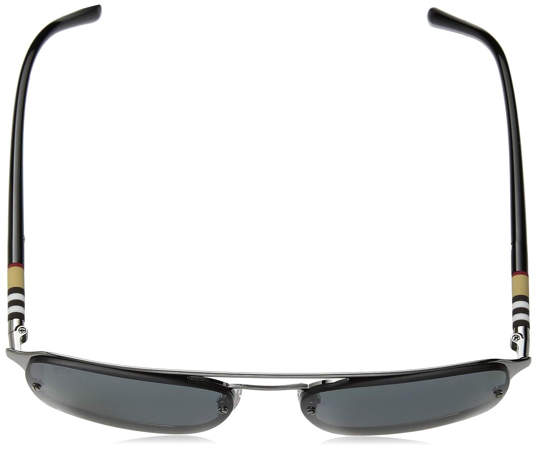 5ed8ad8fff9c Amazon.com: Burberry Men's BE3095 Sunglasses Grey Rubber/Green 56mm:  Clothing