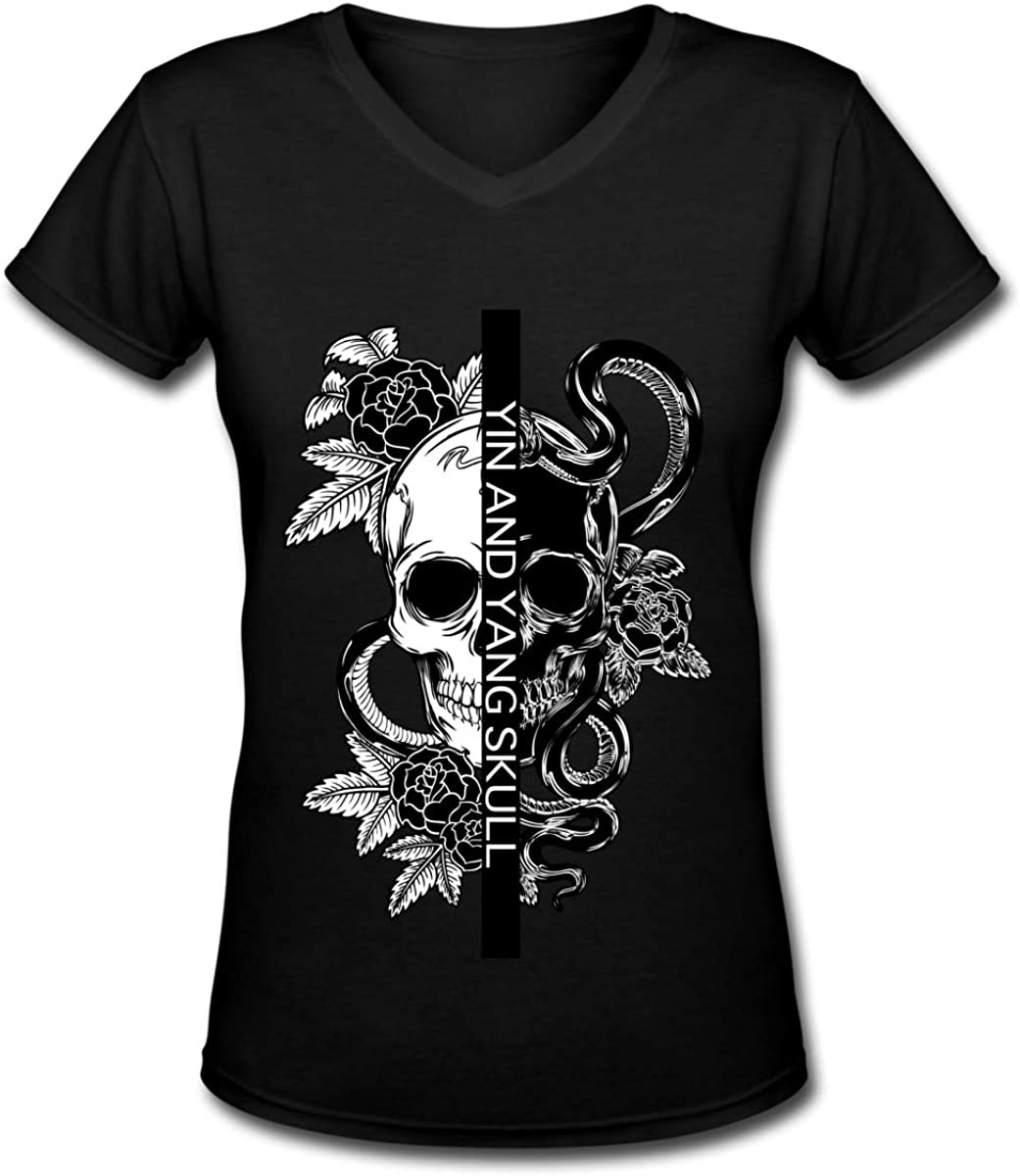 Apparel Women's V-Neck T-Shirt Casual Lamb of God 2 Printed Short Sleeve Tee Tops Trendy