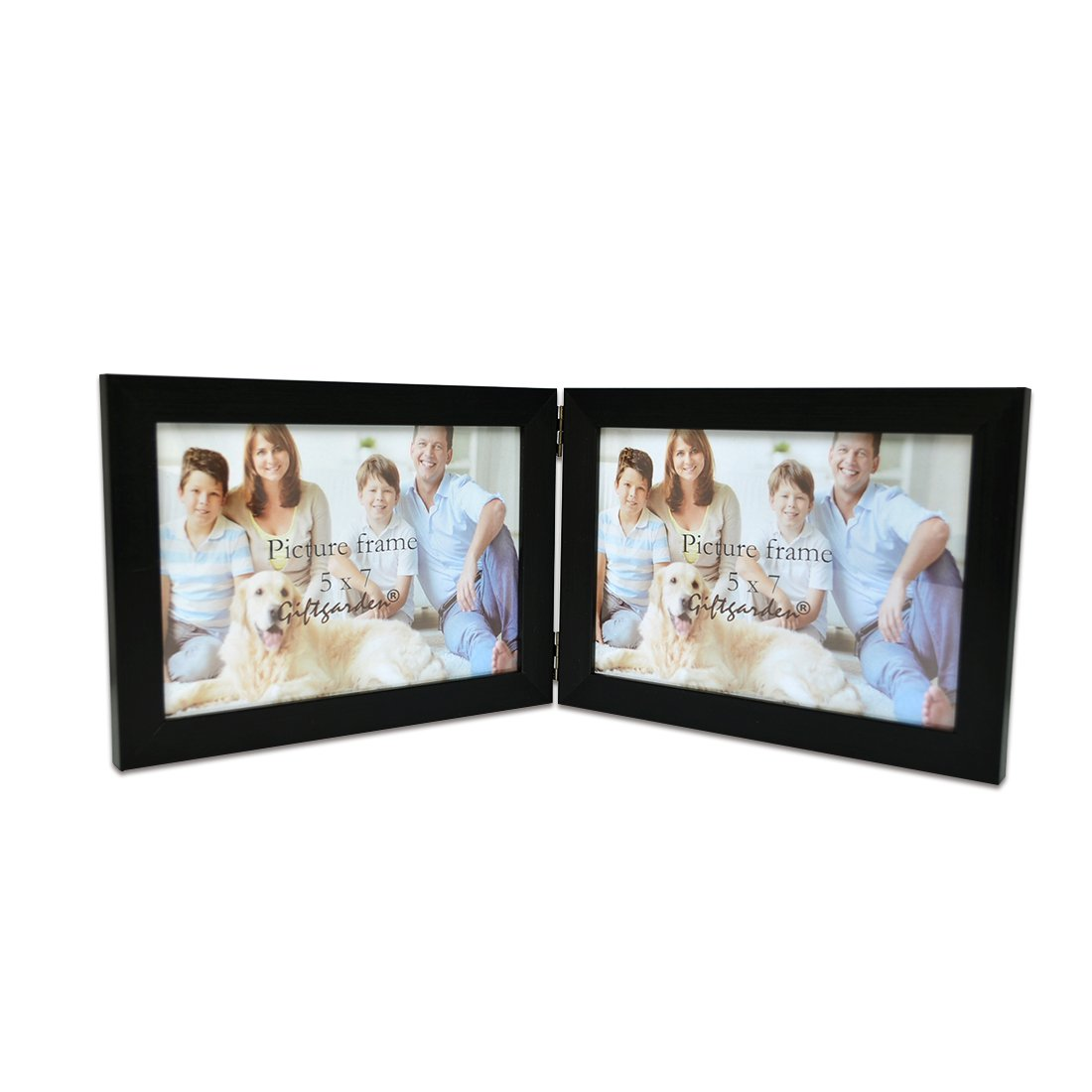 Giftgarden 5x7 inch Double Picture Photo Frame Friends Gift, PVC Lens Sainthood X1012US
