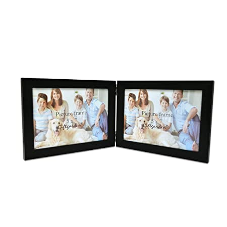 Giftgarden Double Photo Frames 7x5 Black Hinged Picture Frame ...
