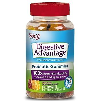 Probiotic Gummy for Adults, Digestive Advantage 60 Gummies, Gluten-Free,  Survives 100x
