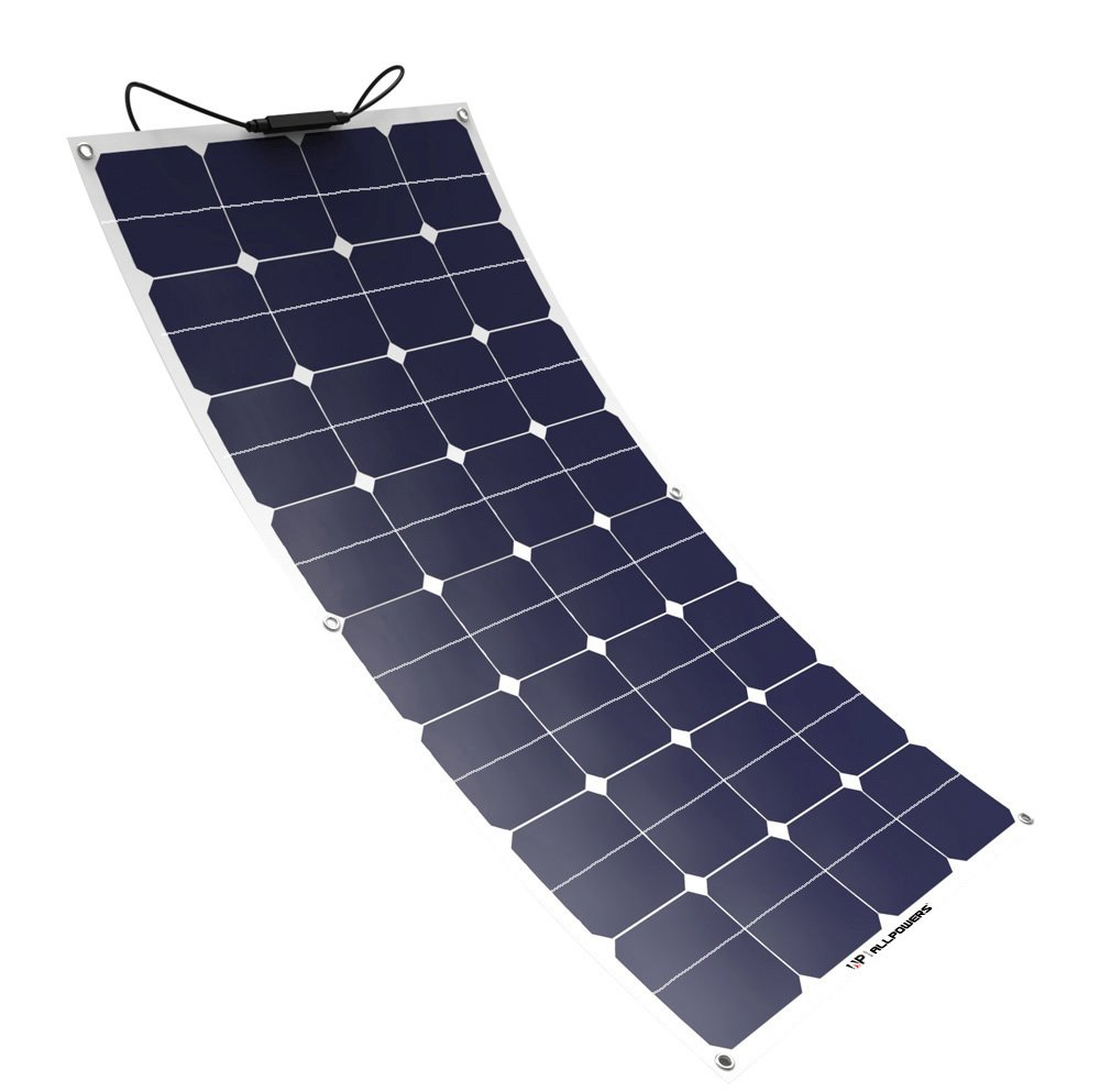 Solar Panel ALLPOWERS 50W 18V 12V Flexible SunPower Solar Charger Module with MC4 for RV, Boat, Cabin, Tent, Car, Trailer, or Any Other Irregular Surface AP-SP18V50W