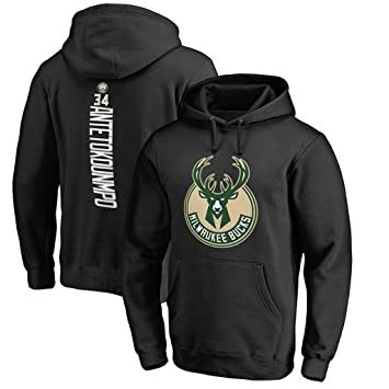 Milwaukee Bucks Sudaderas Antetokounmpo #34 Hombres Jóvenes Name & Number Deportes Baloncesto Moda Sudadera con
