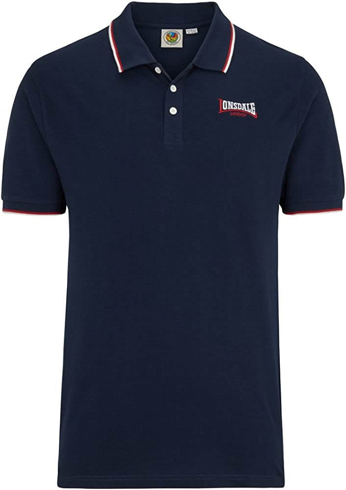 Lonsdale Polo Bordon Azul Oscuro XXL (UK XL): Amazon.es: Ropa y ...