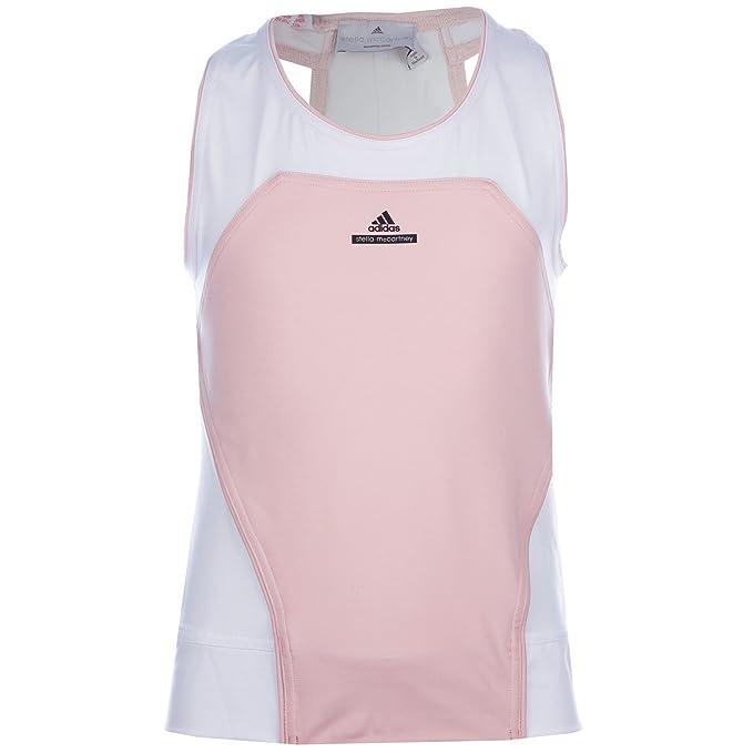 adidas Canotta - Ragazza Bianco e Rosa 11-12 Anni  Amazon.it  Abbigliamento d4efa11a335f