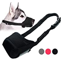 Dog Muzzle Anti Biting Barking and Chewing, with Comfortable Mesh Soft Fabric and Adjustable Strap, Suitable for Small, Medium and Large Dogs