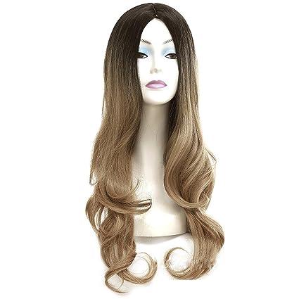 Pelucas sintéticas del pelo de la onda del cuerpo Pelucas largas rubias para la peluca de
