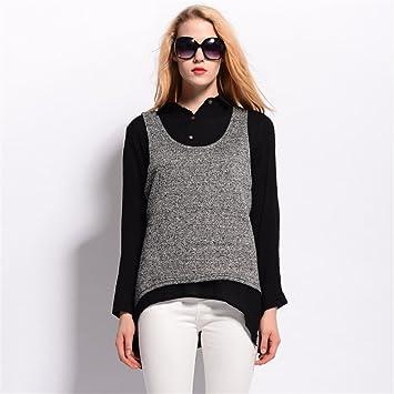 Moda blusa camisa, el otoño y el invierno, los dos trozos de grasa mm