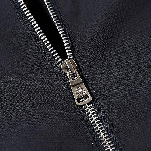 XL negro cuello simulacro de chaqueta un casual hombres Los de chaqueta hombre hombres abrigo chaqueta A1O66Hq