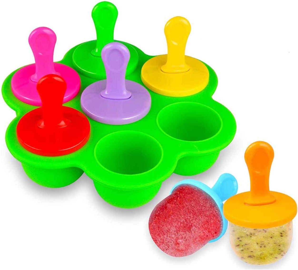 rosepartyh Stampi per Ghiaccioli Stampo in Silicone di Popsicle Ghiaccio Stampini Gelato Bambini Gelati Sorbetti Ice Pop Maker Verde Riutilizzabili Senza Bpa