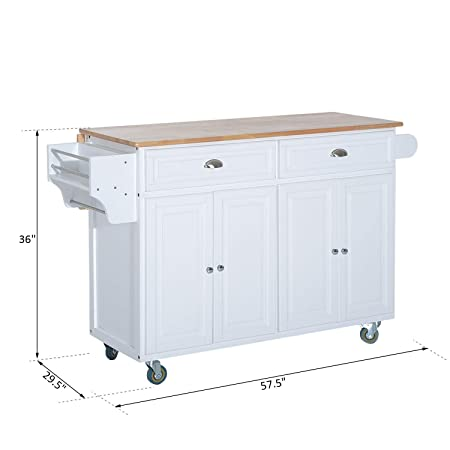 Amazon.com: Festnight Rolling Buffet Sideboards Storage Cabinet Kitchen Island Storage Cart with Drop Leaf Top: Kitchen & Dining
