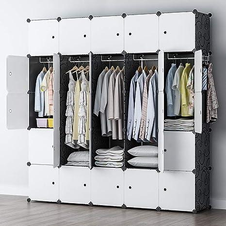 Amazon.com: YOZO - Armario modular portátil con cubo de ...