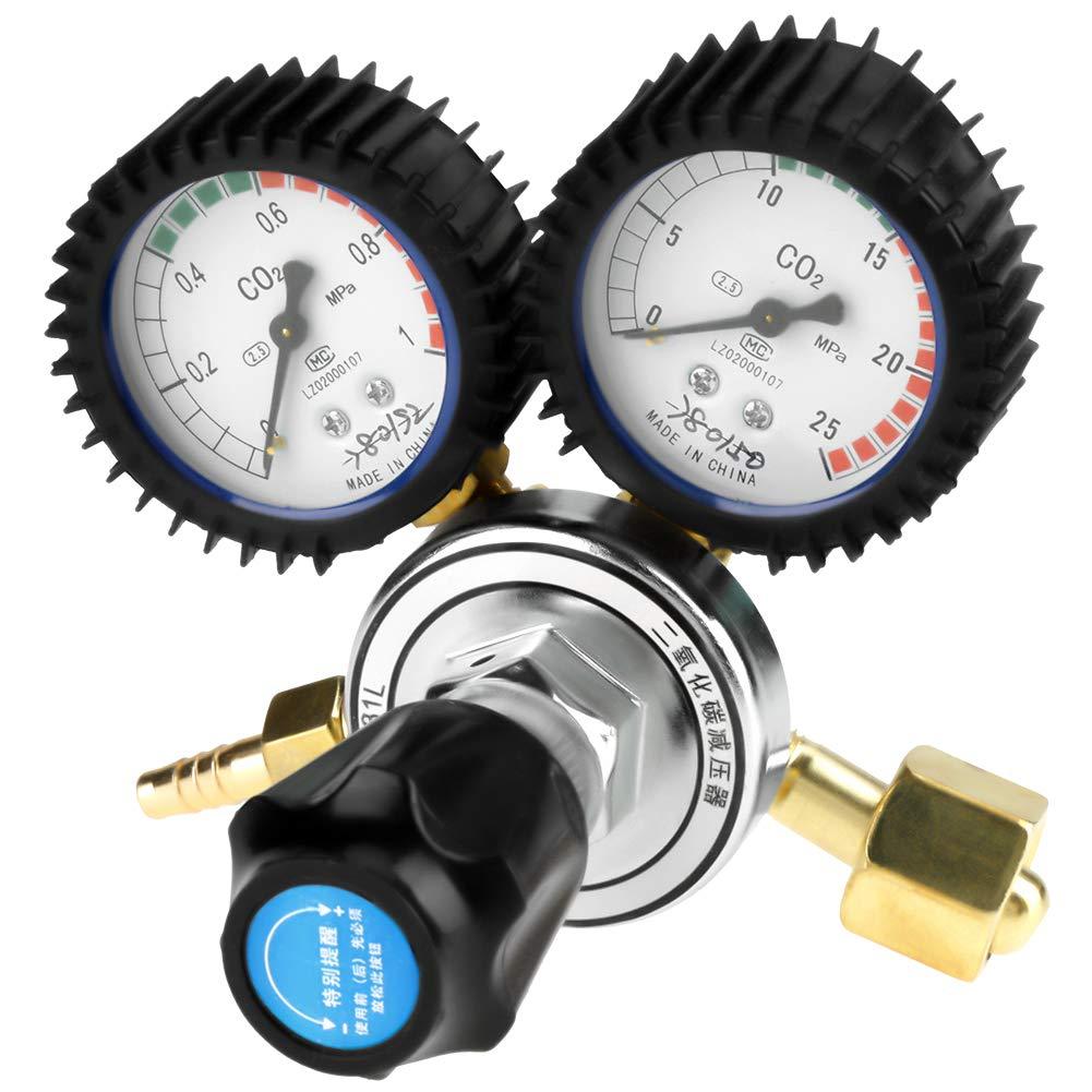 R/éducteur de pression de dioxyde de carbone R/égulateur de pression de CO2 Proc/éd/és chimiques R/égulateur de bouteille de gaz de CO2 Plage de mesure: 0-1MPa,0-25MPa D/écoupe pour Soudage au gaz