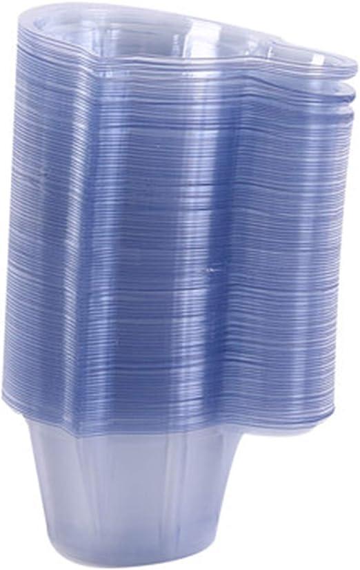 PPX 100 Piezas Vasos de Plástico Desechables para Orina para Pruebas de Ovulación/Pruebas de Embarazo/Laboratorio, 50ML Transparente