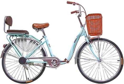 S.N S Bicicleta Mujer Peso Ligero Adulto Ciudad Estudiante Viajero ...