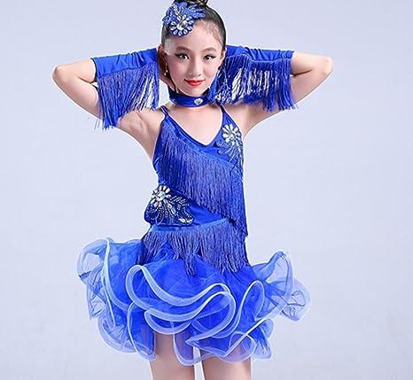 Trajes de Baile Latino para niños Competencia de niñas para ...