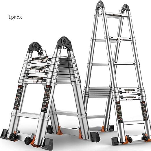 ZWYY Escalera telescópica de Aluminio, escaleras telescópicas Multiusos de extensión de Tipo A,2.5m: Amazon.es: Jardín