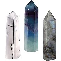 CrystalTears Pierre Quartz Cristal de Roche Blanc Clair Tumbled Naturelle Pointue Prisme Thérapeutiques Guérison Energie …