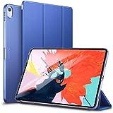 ESR iPad Pro 11 ケース 2018年秋モデルにフィット[Apple Pencilのペアリングとワイヤレス充電に非対応] iPad Pro 11 カバー 軽量 薄型 レザー 三つ折スタンド オートスリープ機能 全4色 2018年秋発売のiPad Pro 11インチ専用(ネイビーブルー)